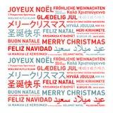 Karte der frohen Weihnachten von der Welt Stockbilder