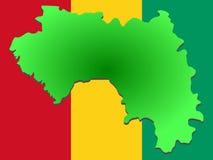 Karte der Guine lizenzfreie abbildung