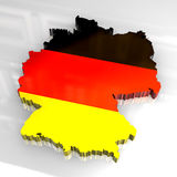 Karte der Markierungsfahne 3d von Deutschland Lizenzfreies Stockfoto
