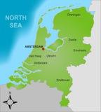 Karte der Niederlande lizenzfreies stockbild