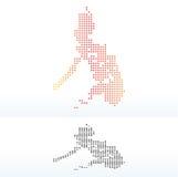 Karte der Republik die Philippinen mit Dot Pattern Lizenzfreie Stockfotografie