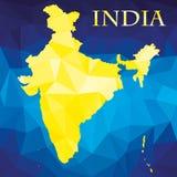 Karte der Republik Indien Lizenzfreies Stockbild