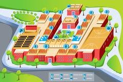 Karte der Schule stock abbildung