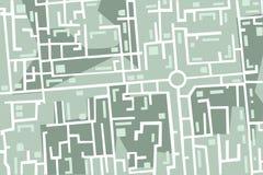 Karte der Stadt Stockfotos