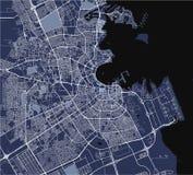 Karte der Stadt von Doha, Katar stock abbildung