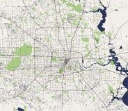 Karte der Stadt von Houston, U S Zustand von Texas, USA lizenzfreie abbildung
