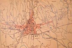Karte der Stadt von Zagreb ab 1902 Lizenzfreie Stockbilder