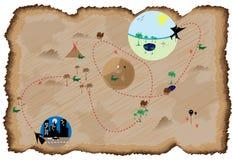 Karte an der tropischen Zieleinheit Lizenzfreies Stockfoto