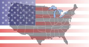 Karte der USA Lizenzfreie Stockfotografie