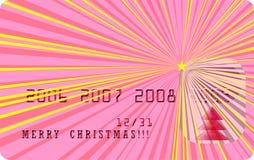 Karte der vektorfrohen Weihnachten Stockbilder