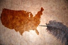 Karte der Weinlese-Vereinigten Staaten von Amerika Lizenzfreies Stockbild