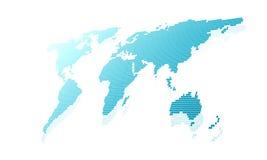 Karte der Welt Lizenzfreie Stockbilder