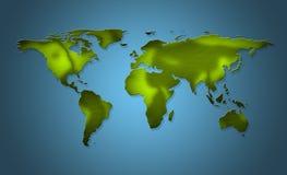 Karte der Welt Stockbild