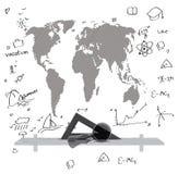 Karte der Welt Stockfotografie