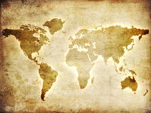 Karte der Welt Lizenzfreies Stockfoto