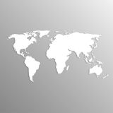 Karte der Welt 3d Stockfotos
