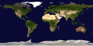 Karte der Welt Kontinente und Ozeane lizenzfreie abbildung