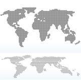 Karte der Welt mit mit Dot Pattern Stockbilder