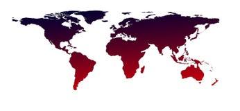 Karte der Welt mit Schatten lizenzfreies stockbild