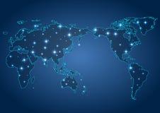 Karte der Welt mit Schatten Lizenzfreie Stockfotos