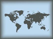 Karte der Welt. Vektorabbildung Stockfotos