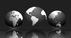 Karte der Welt - Weltabbildung Stockfotos