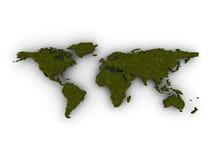 Karte der Welt3d lizenzfreie abbildung