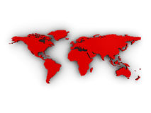 Karte der Welt3d Lizenzfreie Stockfotografie