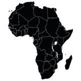 Karte des Afrikaners Lizenzfreies Stockfoto
