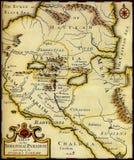 Karte des alten Zustandes. Stockbilder