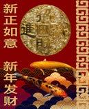 Karte des Chinesischen Neujahrsfests Stockbilder