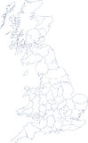 Karte des Festlands Großbritannien Lizenzfreie Stockbilder