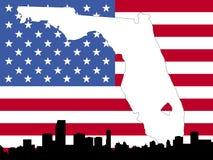 Karte des Florida-Hintergrundes Lizenzfreie Stockbilder