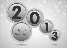 Karte des glücklichen neuen Jahres 2013 lizenzfreie abbildung
