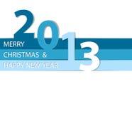 Karte des glücklichen neuen Jahres 2013 Lizenzfreies Stockfoto