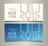 Karte des glücklichen neuen Jahres Stockbild