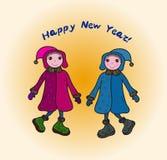 Karte des glücklichen neuen Jahres stock abbildung