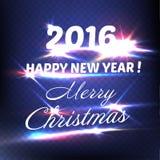 Karte des glücklichen neuen Jahres Guten Rutsch ins Neue Jahr 2016 Auch im corel abgehobenen Betrag Stockbilder