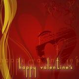Karte des glücklichen Valentinsgrußes Lizenzfreies Stockfoto