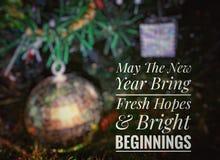Karte des gl?cklichen neuen Jahres stockbild