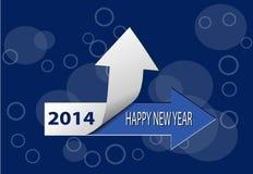 Karte des guten Rutsch ins Neue Jahr 2014 Stockfotos