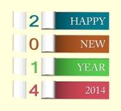 Karte des guten Rutsch ins Neue Jahr 2014 Lizenzfreie Stockbilder