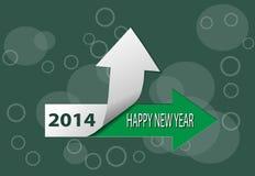 Karte des guten Rutsch ins Neue Jahr 2014 Lizenzfreies Stockbild