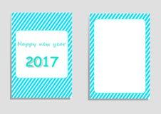 Karte des guten Rutsch ins Neue Jahr 2017, Vektor, Illustration, Kopienraum für Text Stockfoto