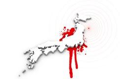 Karte des Japan-Blutens Stockbilder