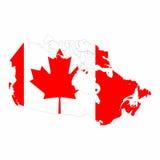 Karte des Kanada-Vektordesigns Lizenzfreies Stockbild