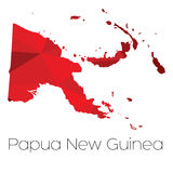 Karte des Landes von Papua-Neu-Guinea Lizenzfreie Stockfotos