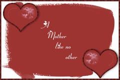 Karte des Mutter Lizenzfreies Stockbild