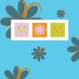 Karte des Mutter Tages lizenzfreie abbildung