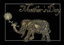 Karte des Muttertags Lizenzfreies Stockfoto